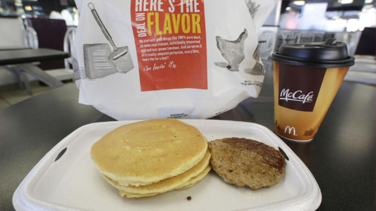 In this Feb. 14, 2013 file photo, a McDonalds breakfast is arranged for an illustration at a McDonalds restaurant in New York.
