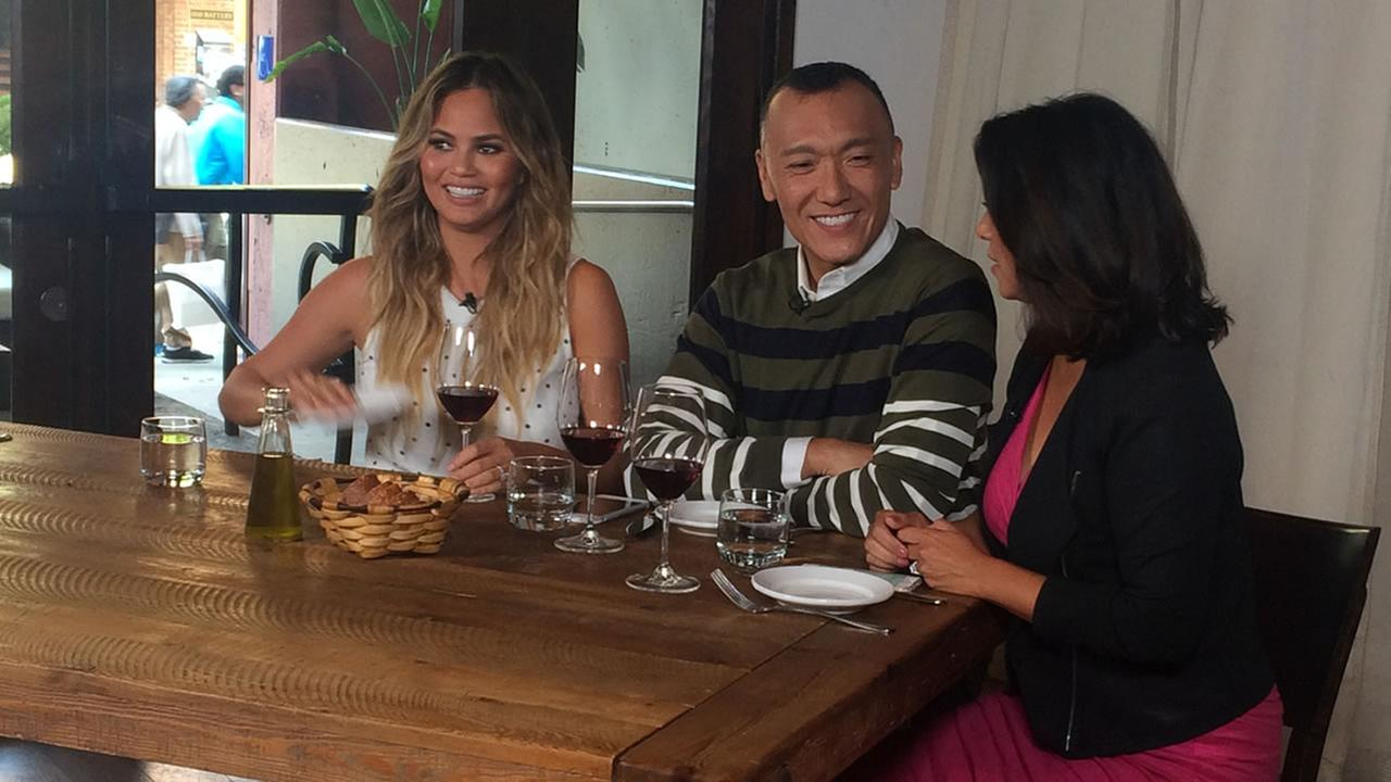 Bay Area LIFE Host Lizzie Bermudez and FABLife Lifestylists Chrissy Teigen and Joe Zee sat down for a talk at Piperade in San Francisco on Monday, August 10, 2015.KGO-TV