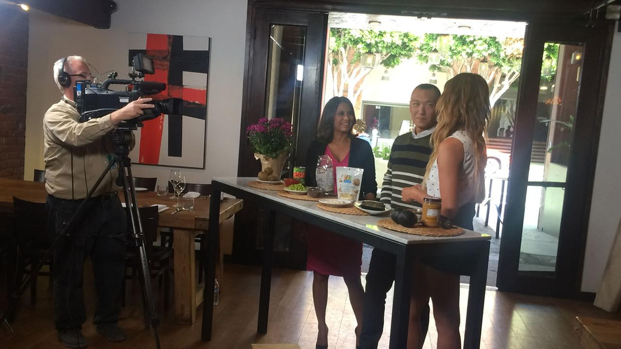 Heres a behind the scenes look at Bay Area LIFE Host Lizzie Bermudez and FABLife Lifestylists Chrissy Teigen and Joe Zee in San Francisco on Monday, August 10, 2015.KGO-TV