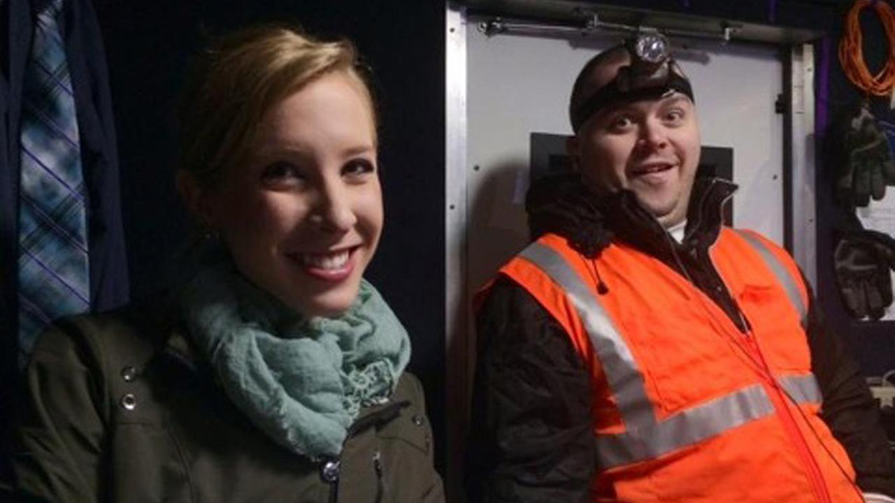 FILE - This undated file image made available by WDBJ-TV shows reporter Alison Parker, left, and cameraman Adam Ward.