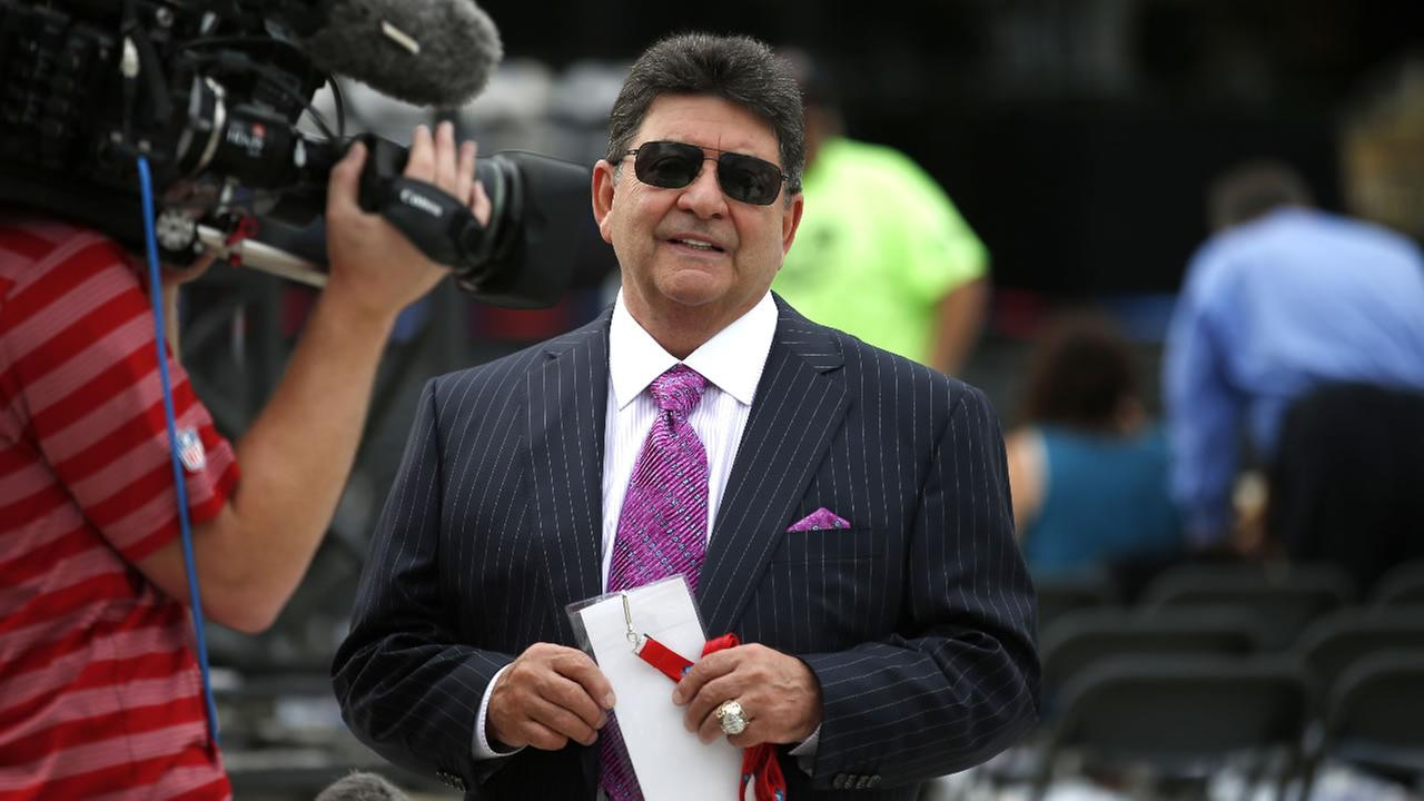 Former owner of the San Francisco 49ers Edward DeBartolo, Jr.,  before the Pro Football Hall of Fame ceremony at Tom Benson Hall of Fame Stadium, Saturday, Aug. 8, 2015, in Ohio.