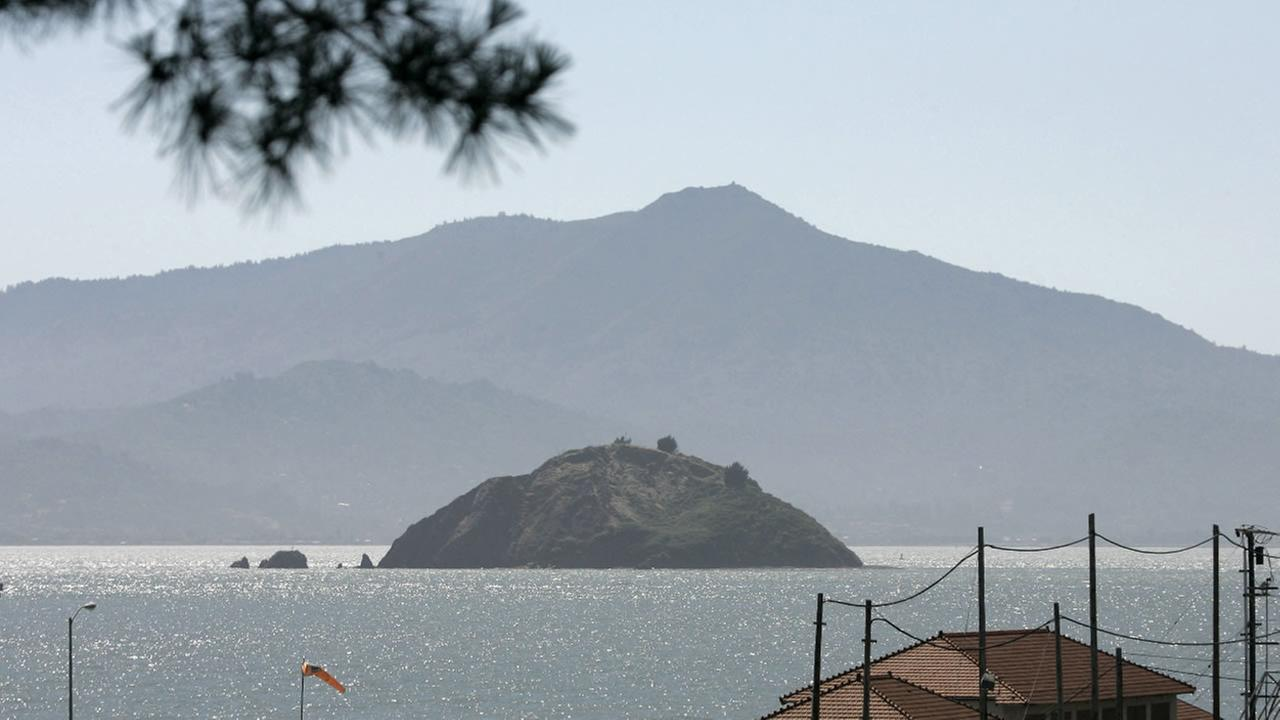 In this June 15, 2007 file photo, Red Rock Island, with Mt. Tamalpais in the background, is seen in this view taken from Point Richmond, Calif.