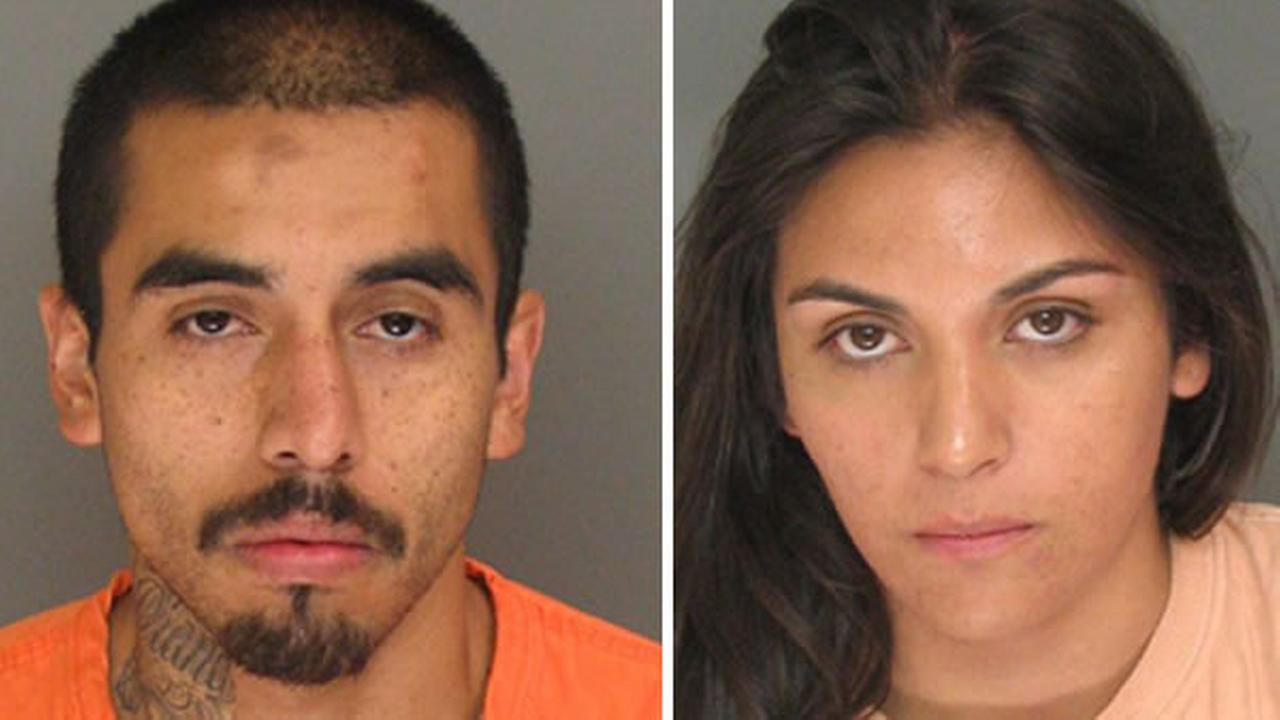 Watsonville have arrested Antonio Bravo on suspicion of holding three women up at gunpoint and his girlfriend Diana Pacheco for allegedly driving the getaway car.