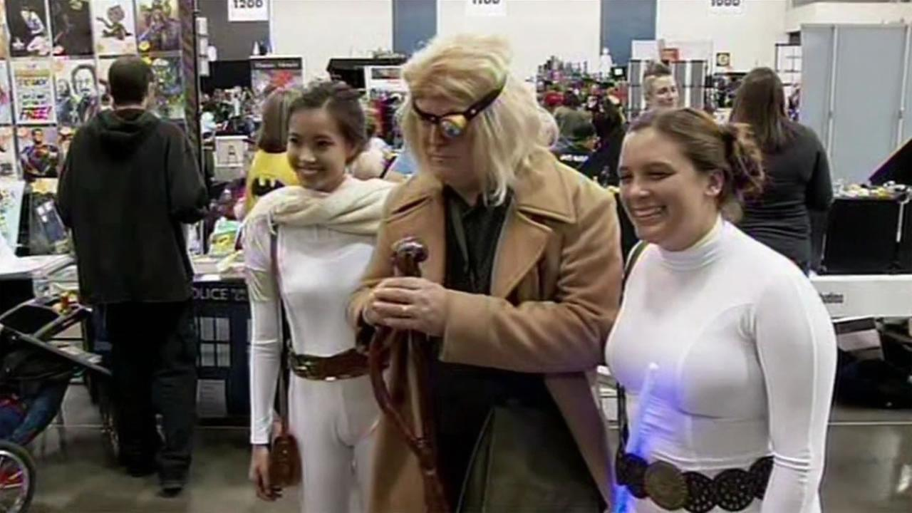 Cosplayers and comic book fans gathered at Wizard World Comic Con in San Jose, Calif. on Saturday, September 5, 2015.KGO-TV