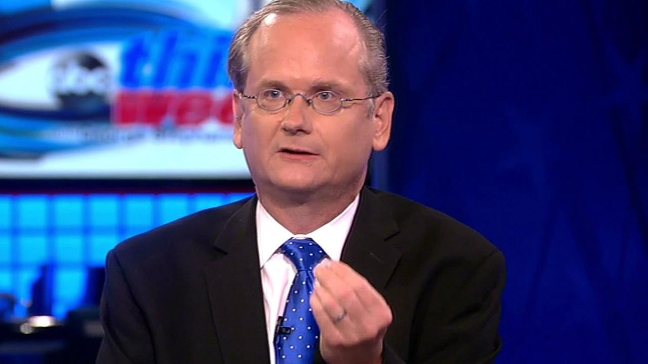 FILE - Harvard Professor Larry Lessig is interviewed on ABCs This Week in this undated image.
