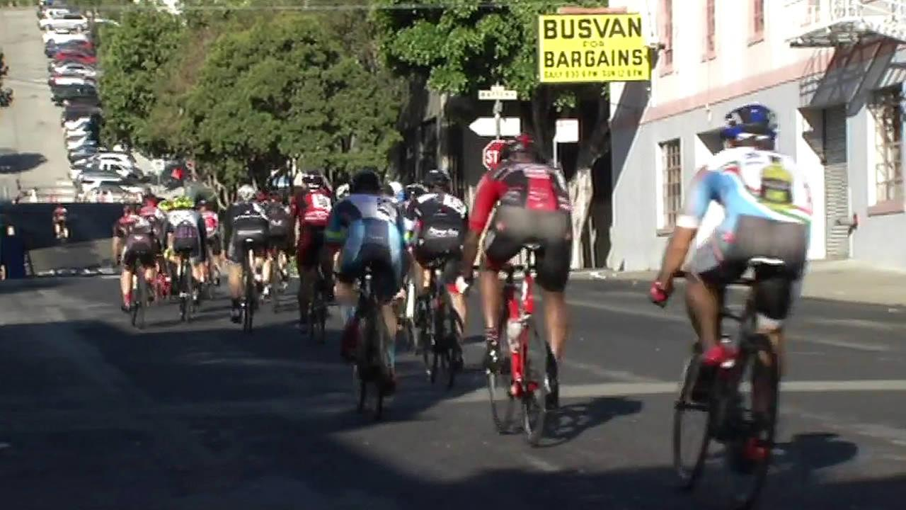 Some of the countrys top cyclists competed in the 41st Annual Metro-Mint Giro di San Francisco on Monday, September 7, 2015. (KGO-TV)