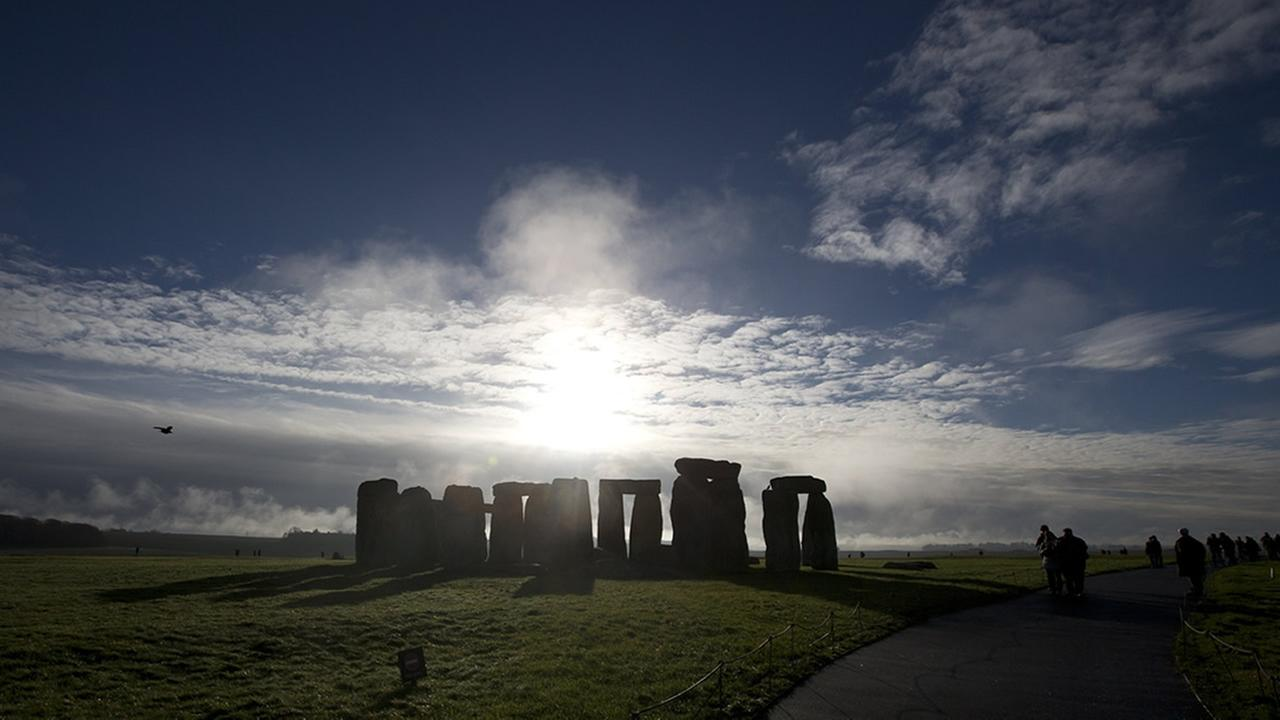 FILE - Site of Stonehenge, England. Researchers discovered evidence of standing stones believed to be the remnants of a major prehistoric stone monument near the ruins. (AP Photo)