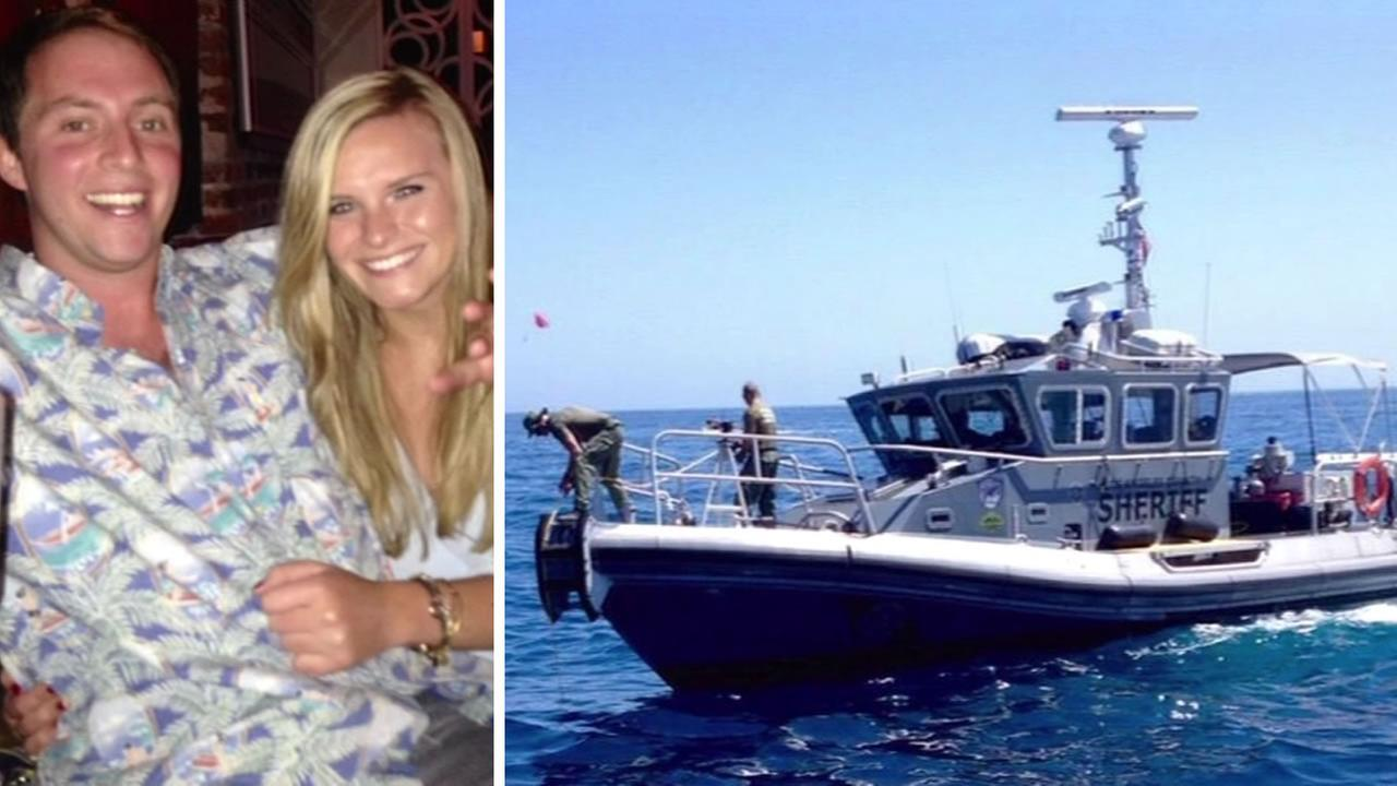 Michael Harris and Kelly Wells are pictured in this undated image. Harris died and Wells was injured in a boating accident off Santa Catalina Island, Calif. on September 6, 2015.