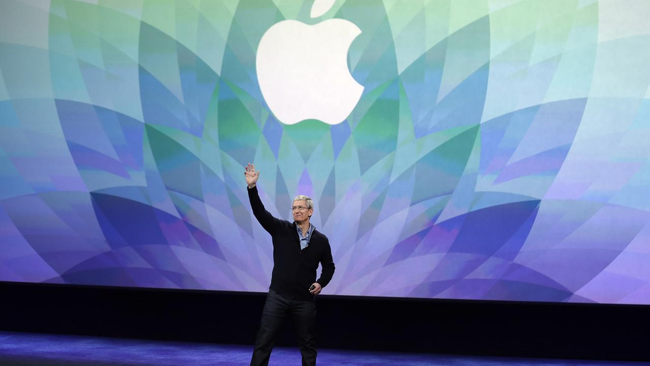 Apple CEO Tim Cook kicks off an Apple event on Monday, March 9, 2015, in San Francisco. (AP Photo/Eric Risberg)