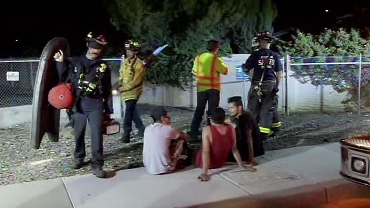 San Jose firefighters search canal