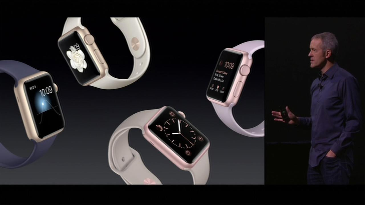 Apple Watch has been upgraded with several new features and styles as explained at the #AppleEvent in San Francisco on Wednesday, September 9, 2015.KGO-TV