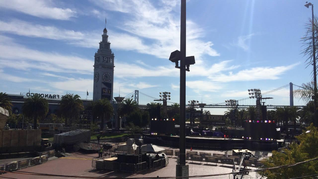 The NFL is kicking off regular season play at Justin Herman Plaza in San Francisco, on Thursday, September 10, 2015.