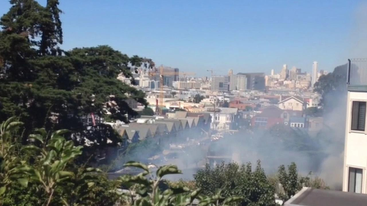 smoke in San Francisco neighborhood