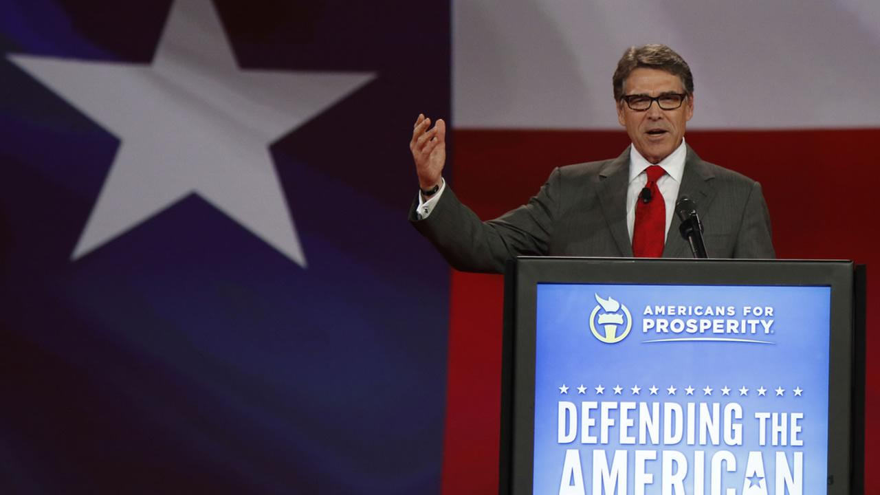 Former Texas Gov. Rick Perry speaks at the Defending the American Dream summit at the Greater Columbus Convention Center in Columbus, Ohio, Saturday, Aug. 22, 2015.