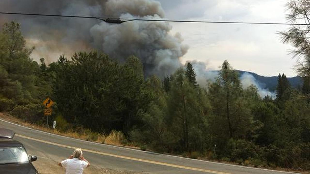 The Valley Fire in Lake County, Calif., burned thousands of acres on Saturday, September, 12, 2015. Photo submitted to KGO-TV by Jerome Strach/Twitter