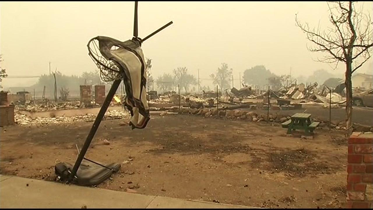 The Valley Fire in Lake County, Calif. burned thousands of acres on Sunday, September 13, 2015.KGO-TV