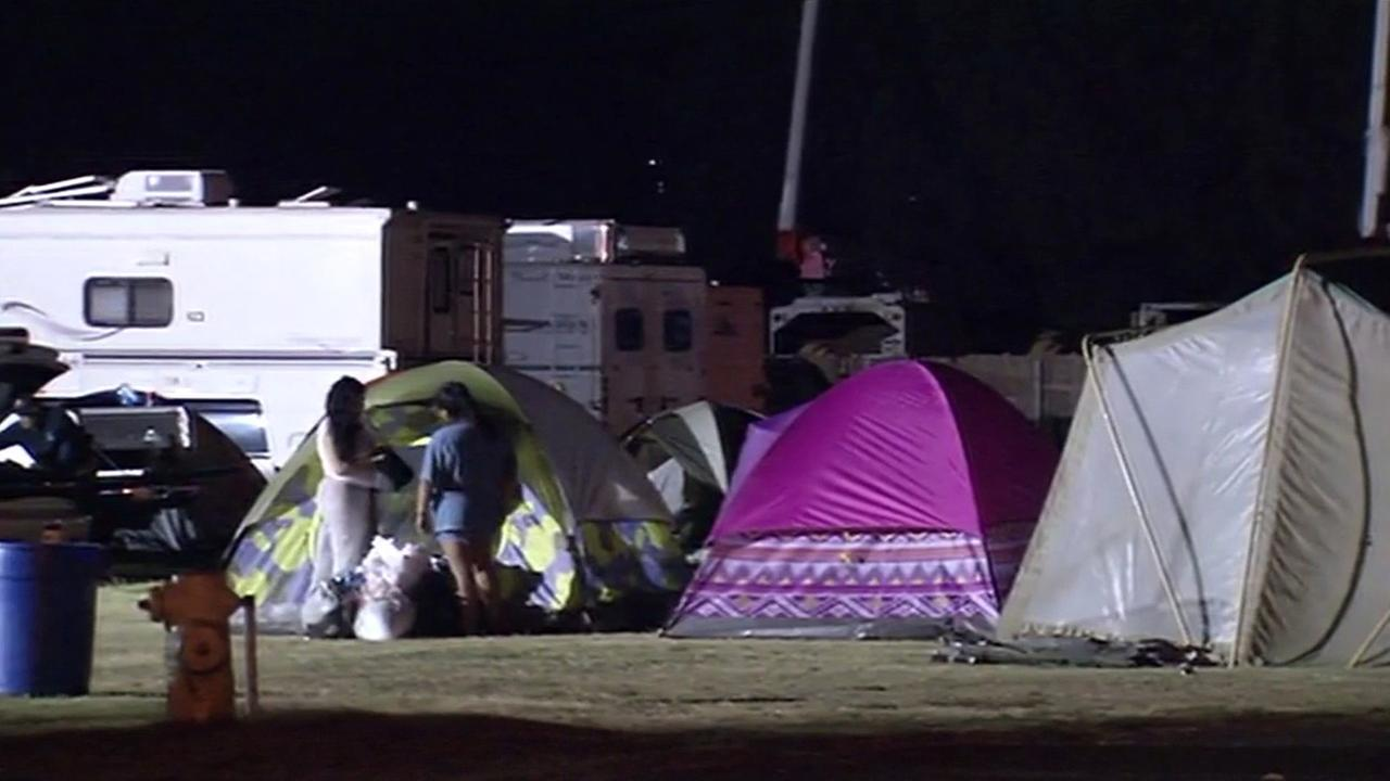 Hundreds of residents have been staying at the Napa County Fairgrounds to escape the Valley Fire, Monday, September 14, 2015KGO-TV