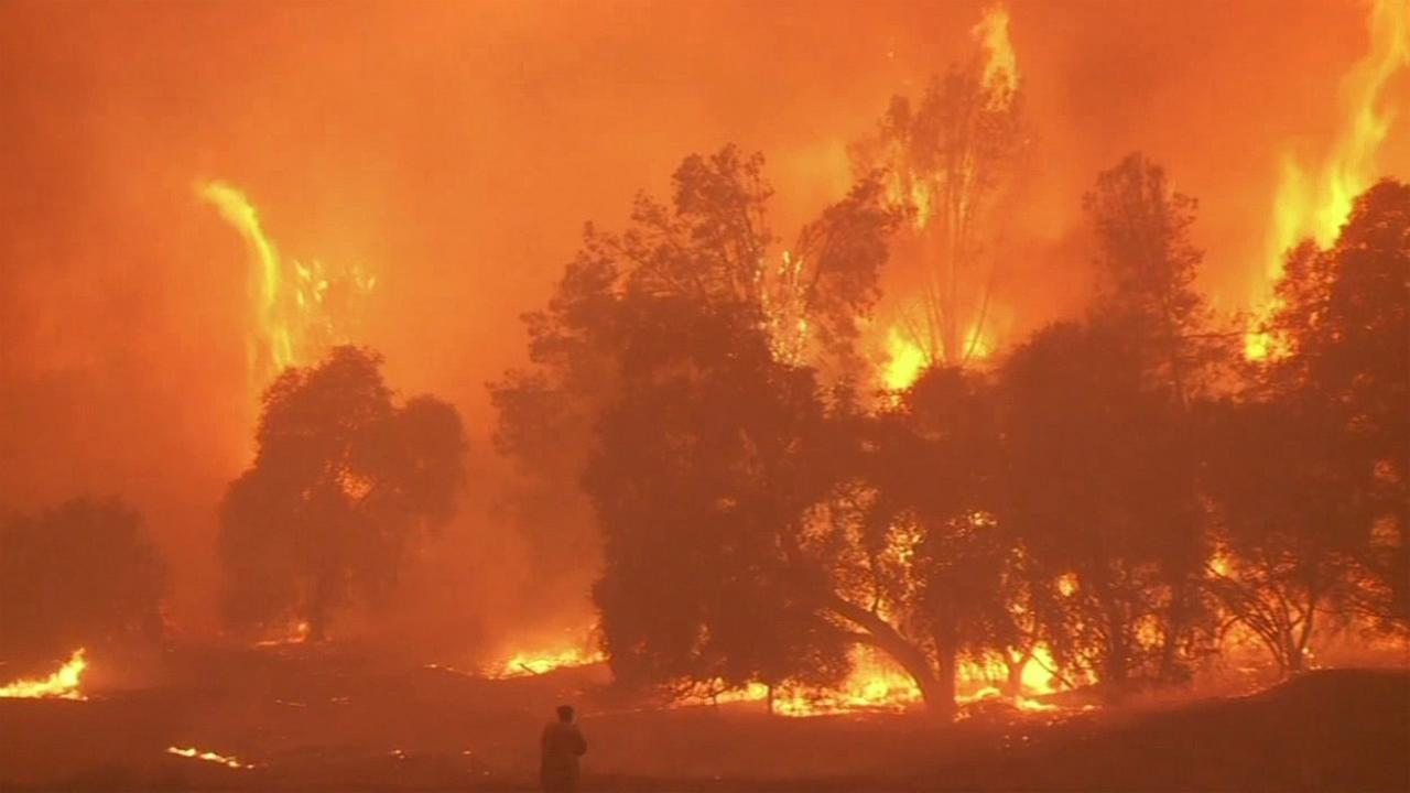 The Butte Fire burning in Calaveras and Amador counties has burned 71,000 acres as of Monday, September 14, 2015.