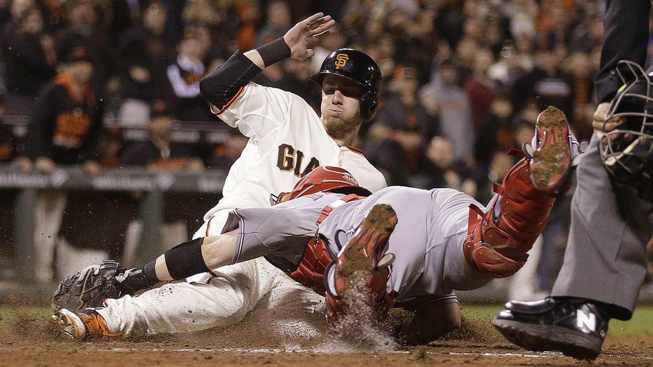 San Francisco Giants Matt Duffy slides