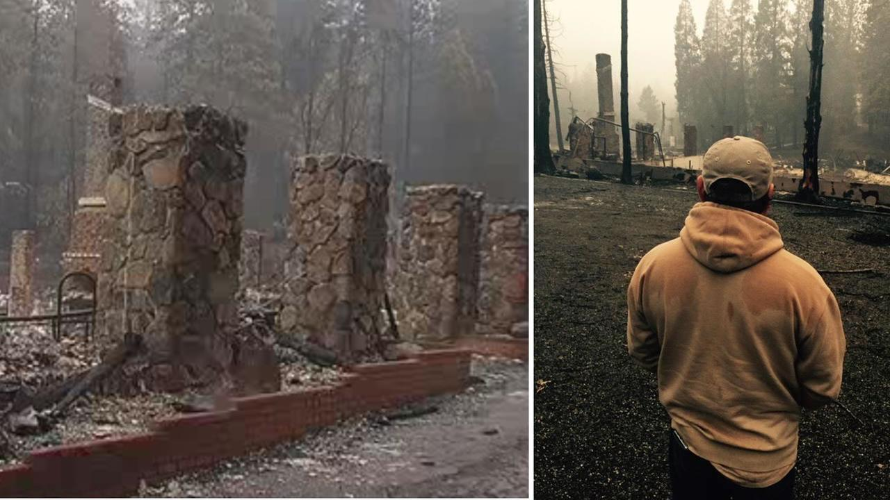 Dan Nelson, owner of Hobergs Resort and Spa in Calistoga, stared at what was left of the historic gettaway, Sept. 16, 2015.