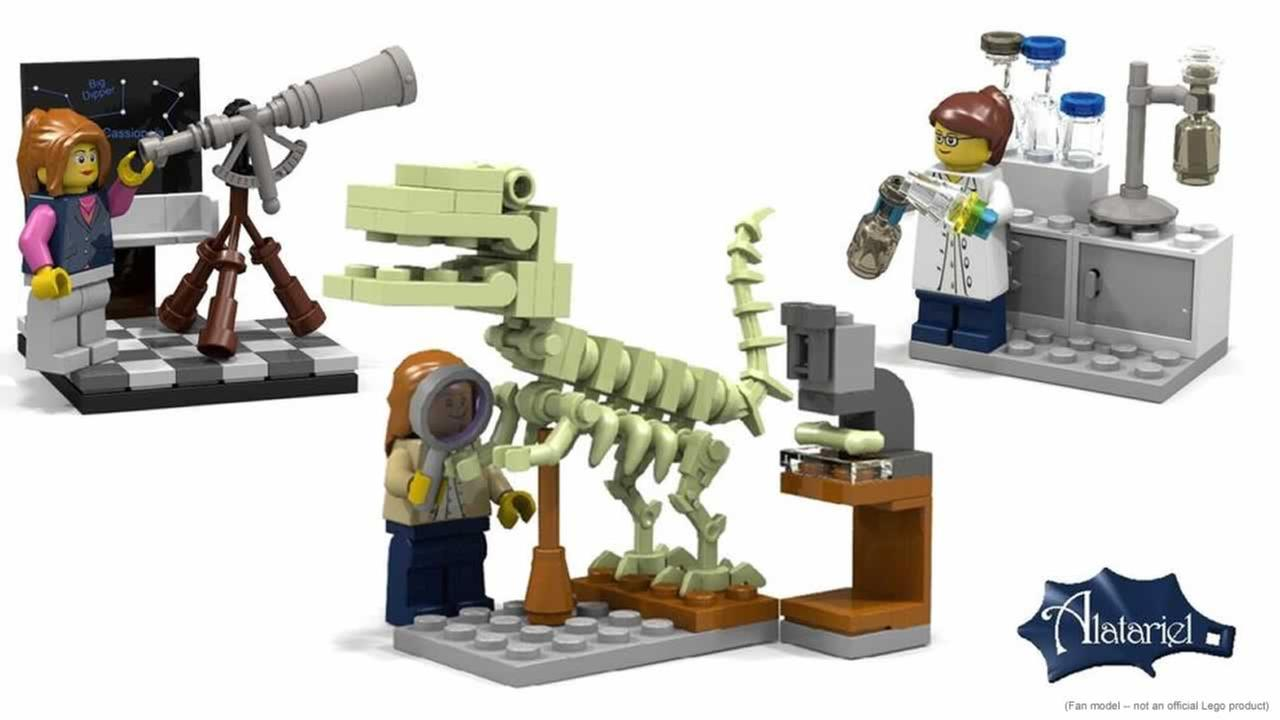 The idea for Research Institute Lego set came from a contest.