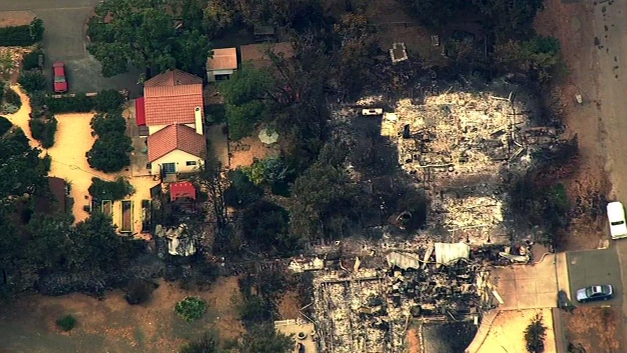 Home destroyed by Valley Fire in Lake County, Thursday, September, 18, 2015.
