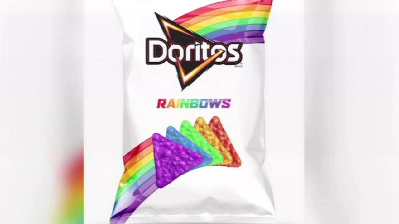 Doritos is showing its support for LGBT teenagers with limited-run rainbow tortilla chips.