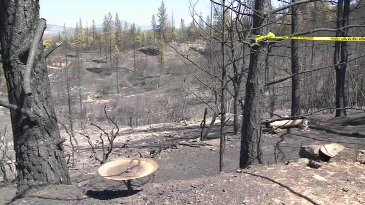 land burnt by the Butte Fire