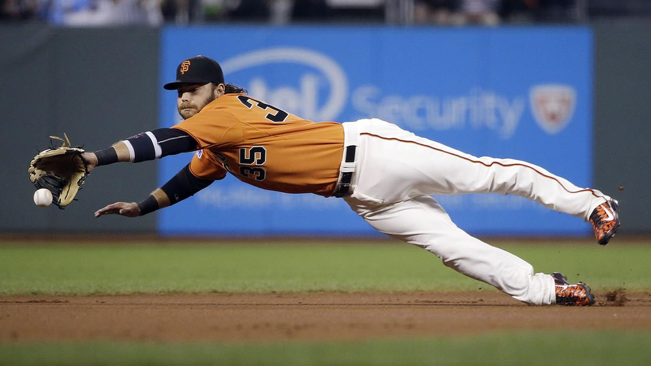 San Francisco Giants shortstop Brandon Crawford