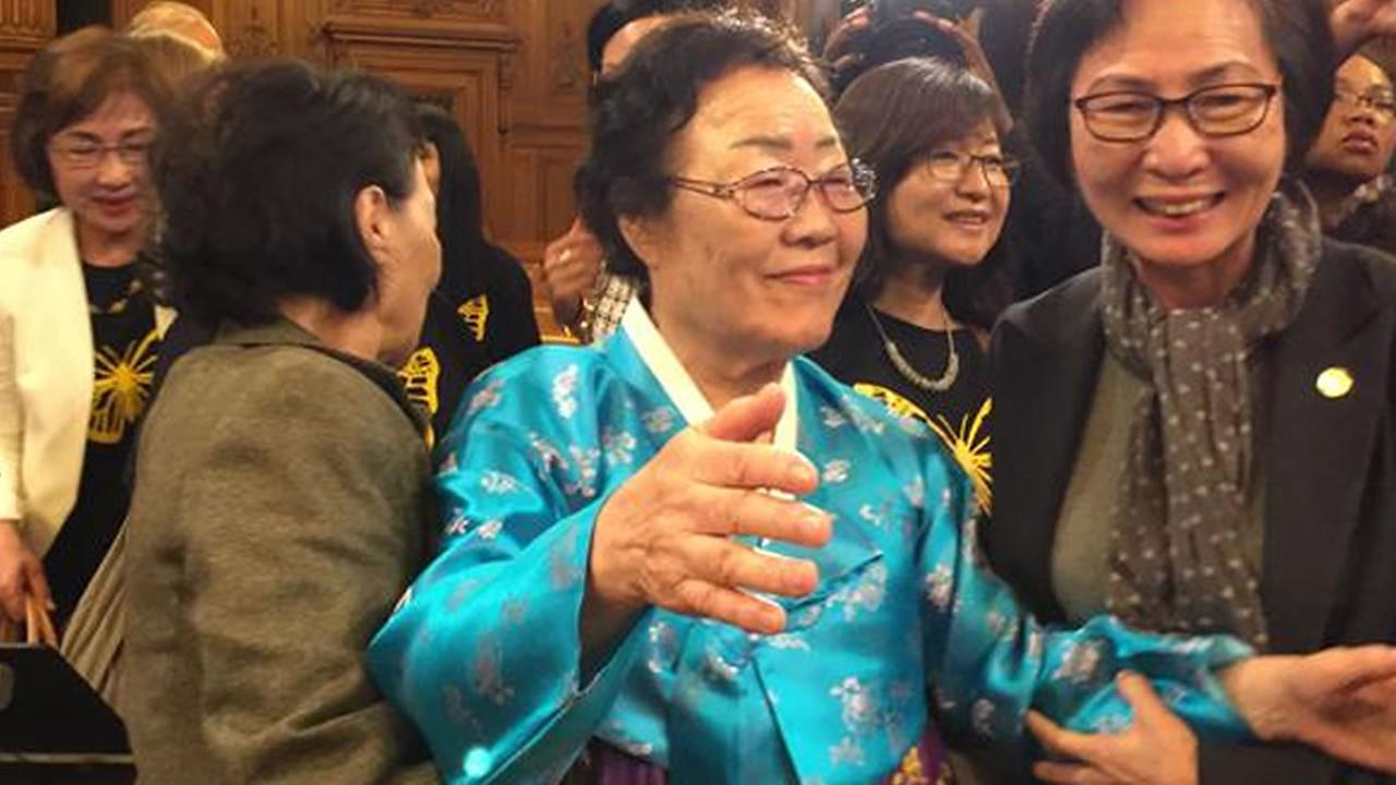 Yong Soo Lee, a former World War II comfort woman, was in San Francisco Tuesday, Sept. 22 when the board of supervisors voted to esatblish a memorial dedicated to those women.