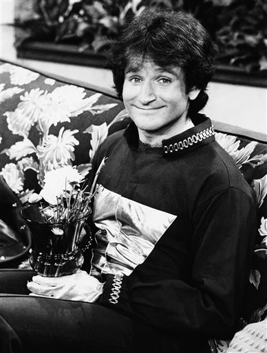 Actor Robin Williams on the set of ABCs Mork and Mindy, April, 1978. <span class=meta>(AP)</span>