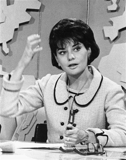 Newswoman Barbara Walters is shown on the set in NBC Studios, March 1974. <span class=meta>(AP Photo)</span>