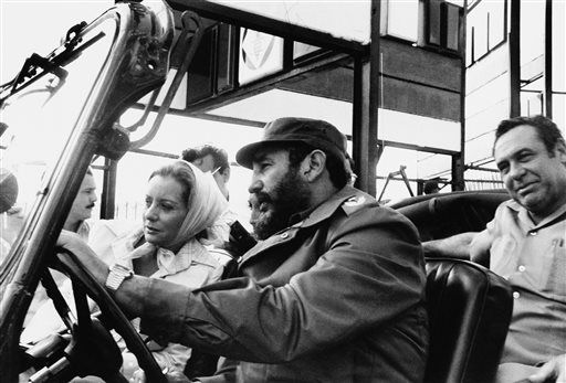 ABC news correspondent Barbara Walters is driven on a sightseeing tour by Fidel Castro in this June 6, 1977 file photo taken in Cuba. <span class=meta>(AP Photo)</span>