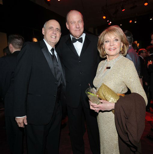 Jeffrey Tambor, Bill Geddie and Barbara Walters attend the TIME's 100 Most Influential People in the World Gala on Tuesday, April, 23, 2013 in New York City, New York. <span class=meta>Photo by Brad Barket/Invision for The Hollywood Reporter/AP Images</span>