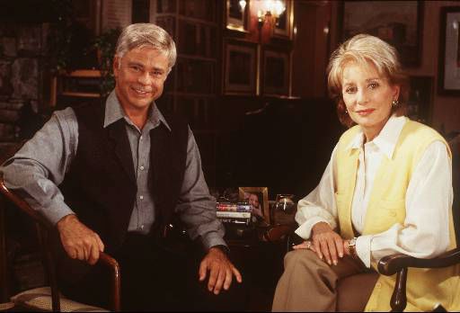 This is an undated photo of ABC News &#34;20/20&#34; co-anchor Barbara Walters and Jim Bakker. <span class=meta>AP Photo/ ANDREW SEMEL</span>