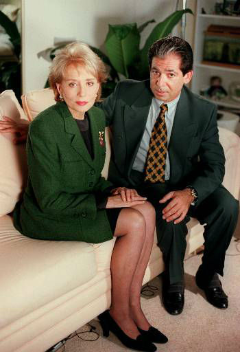 Longtime O.J. Simpson friend and defense attorney  Robert Kardashian sits with Barbara Walters in this undated photo. <span class=meta>(AP Photo&#47;ABC, Randy Holmes)</span>