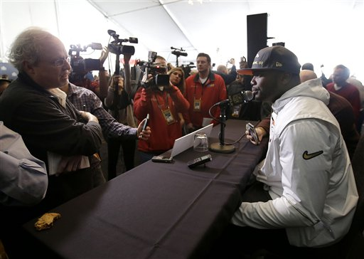 <div class='meta'><div class='origin-logo' data-origin='none'></div><span class='caption-text' data-credit='AP/Jeff Chiu'>Denver Broncos running back C.J. Anderson speaks to reporters in Santa Clara, Calif., Tuesday, Feb. 2, 2016.</span></div>