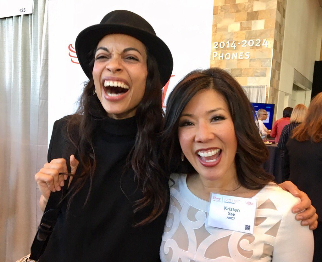 <div class='meta'><div class='origin-logo' data-origin='none'></div><span class='caption-text' data-credit='Twitter/@KristenSze'>ABC7 News' Kristen Sze meets with Rosario Dawson a day before her keynote address in for the San Francisco Professional BusinessWomen of California Conference on March, 27, 2017.</span></div>