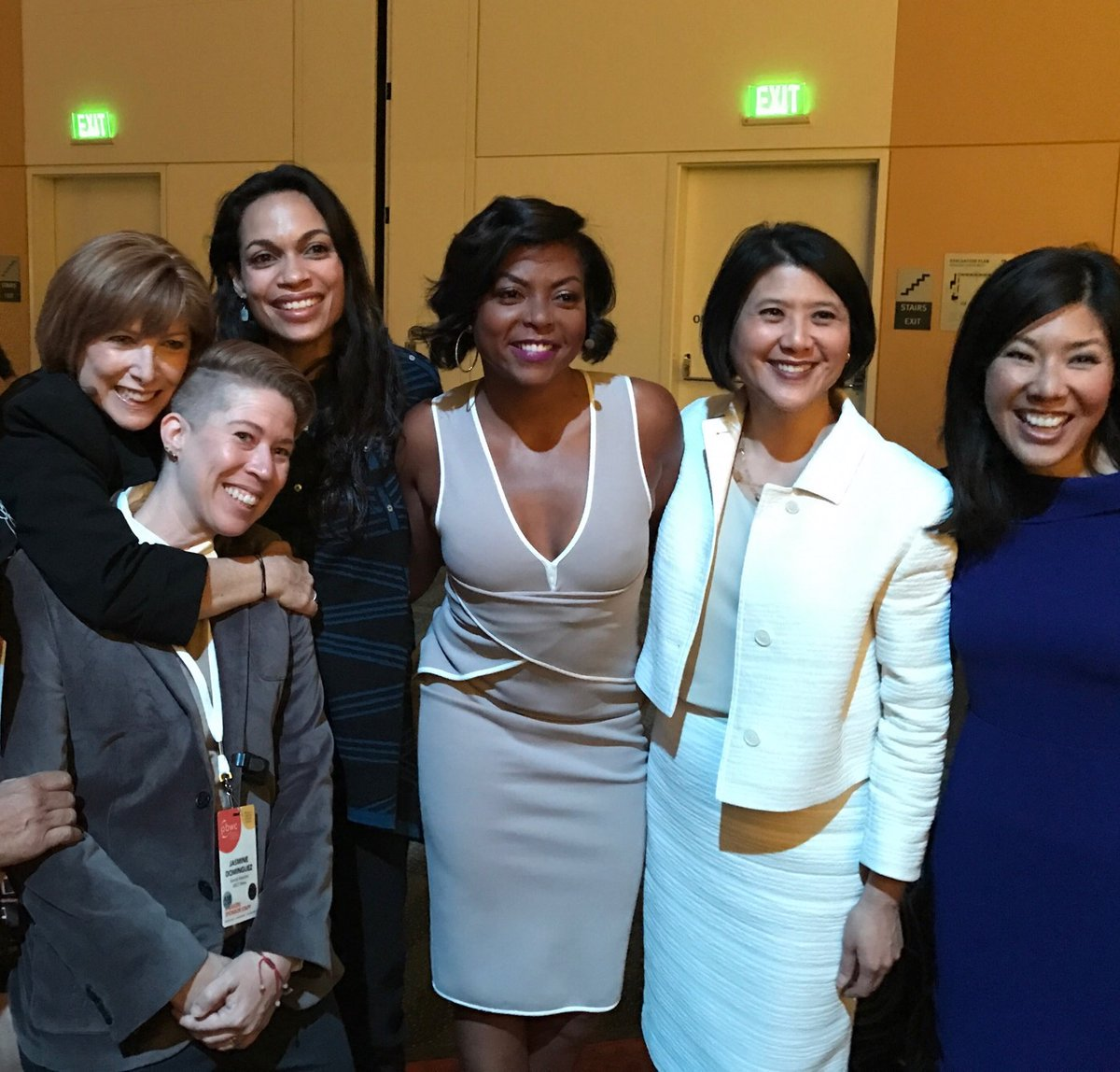 "<div class=""meta image-caption""><div class=""origin-logo origin-image none""><span>none</span></div><span class=""caption-text"">Attendees including Taraji P. Henson, Rosario Dawson, and Kristen Sze pose at the Professional BusinessWomen of California Conference in San Francisco on March, 28, 2017. (KGO-TV)</span></div>"