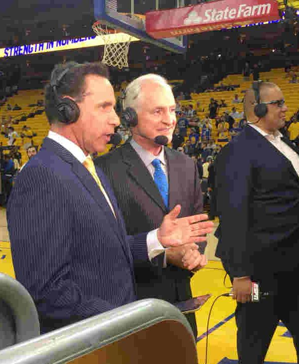 <div class='meta'><div class='origin-logo' data-origin='none'></div><span class='caption-text' data-credit='KGO-TV'>Here's a behind-the-scenes look at Game 1 of the NBA Finals between the Golden State Warriors and Cleveland Cavaliers in Oakland, Calif. on Thursday, June 1, 2017.</span></div>