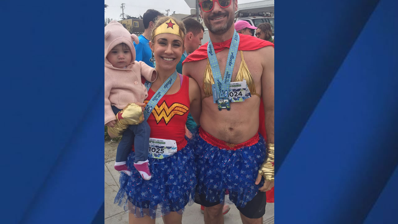 <div class='meta'><div class='origin-logo' data-origin='none'></div><span class='caption-text' data-credit='KGO-TV'>Runners are seen taking part in the 106th annual Bay to Breakers race in San Francisco on Sunday, May 21, 2017.</span></div>
