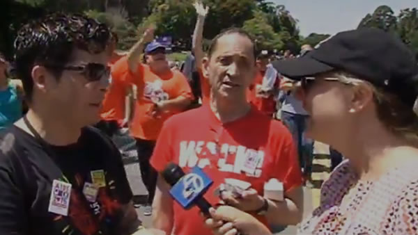<div class='meta'><div class='origin-logo' data-origin='none'></div><span class='caption-text' data-credit='KGO-TV'>ABC7 News reporter Amy Hollyfield had a great time interviewing AIDS Walk San Francisco walkers in Golden Gate Park on Sunday, July 19, 2015.</span></div>