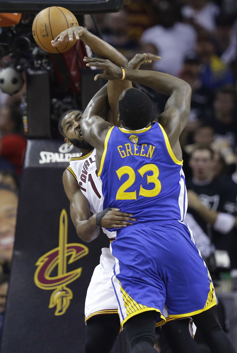 <div class='meta'><div class='origin-logo' data-origin='none'></div><span class='caption-text' data-credit='AP'>Draymond Green fights off Tristan Thompson during Game 4 of the NBA Finals in Cleveland, Ohio on June 9, 2017.</span></div>