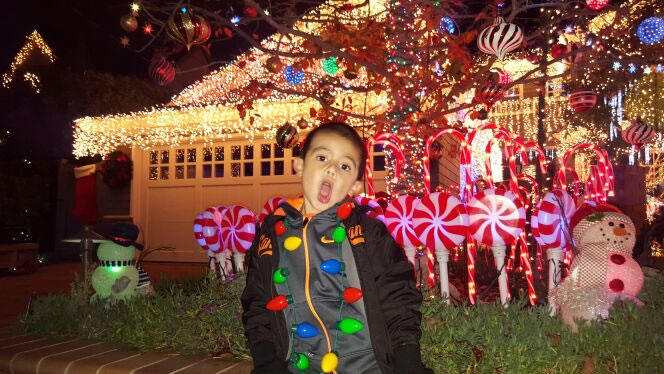 "<div class=""meta image-caption""><div class=""origin-logo origin-image none""><span>none</span></div><span class=""caption-text"">Sean Dobie shot this pic of amazing Christmas lights on Eucalyptus Ave. in San Carlos. (Photo sent to KGO-TV by lizzymerrick/Instagram)</span></div>"