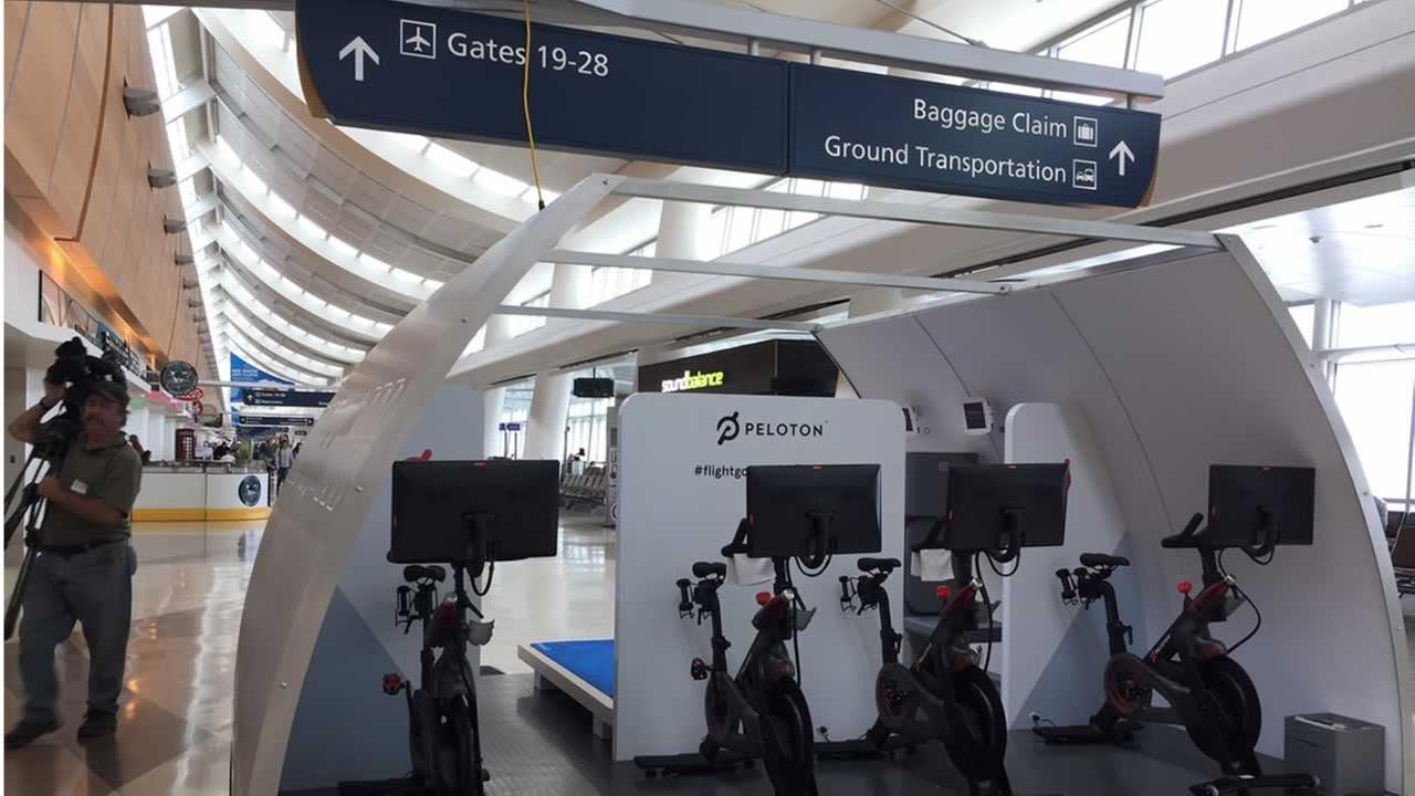 San Jose based A3, a division of airframe maker Airbus, is testing new concepts of modular workout spaces inside Terminal B at Mineta San Jose International Airport. Monday, AprilKGO-TV