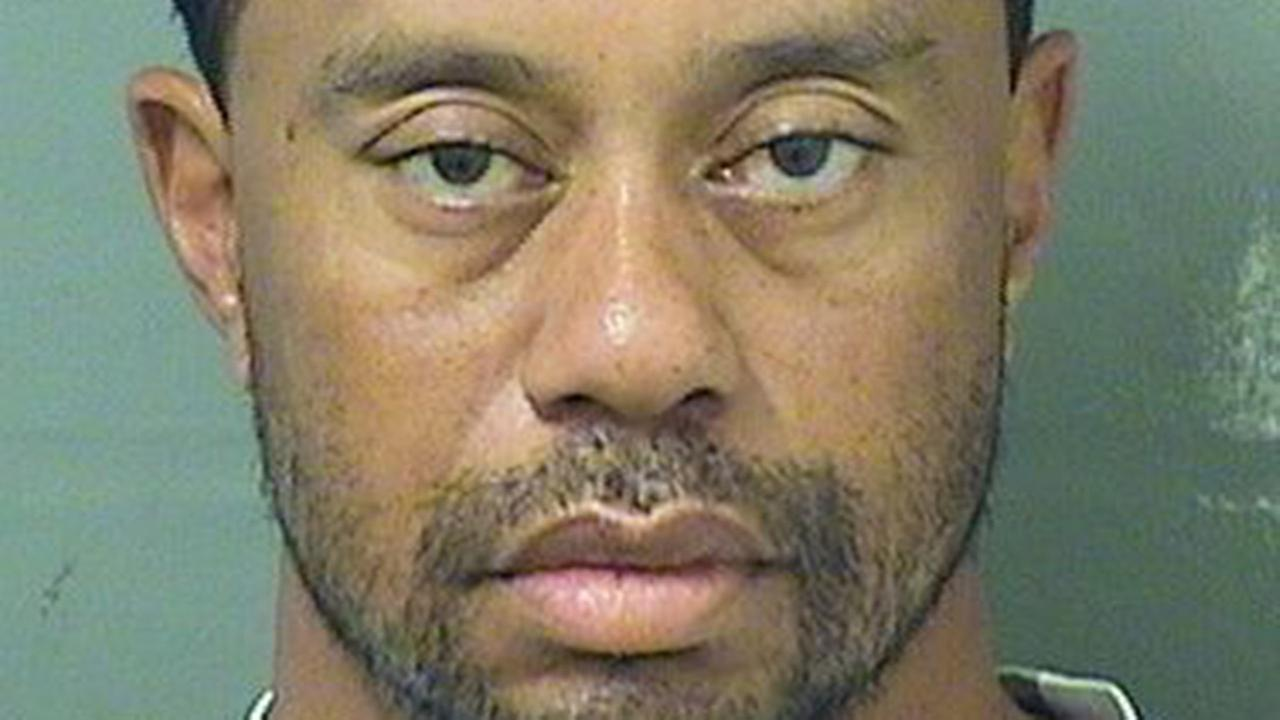 Booking photo of Tiger Woods, Palm Beach County Sheriffs Office, Monday, May 29, 2017.