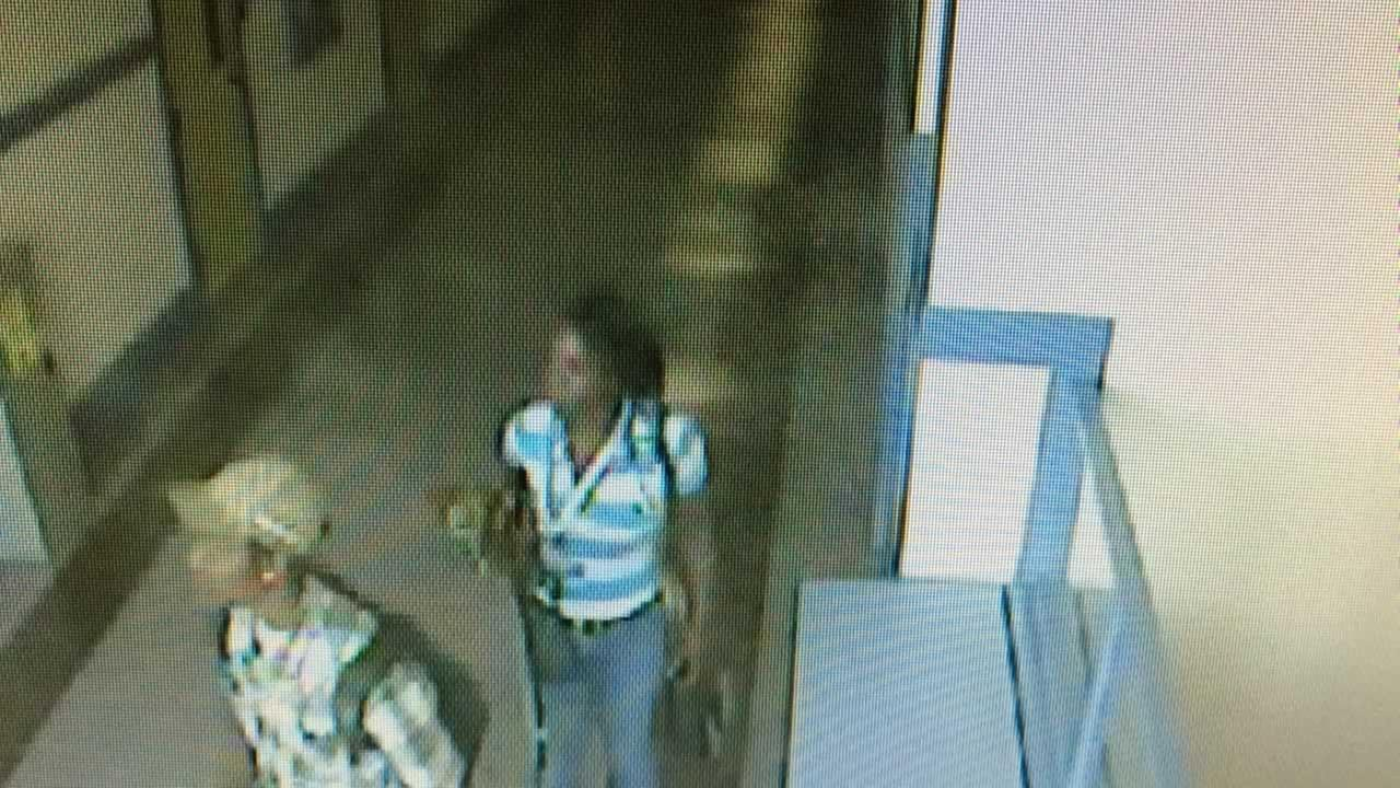 Surveillance video from Glen Park School shows a possible suspect in an iPad theft.