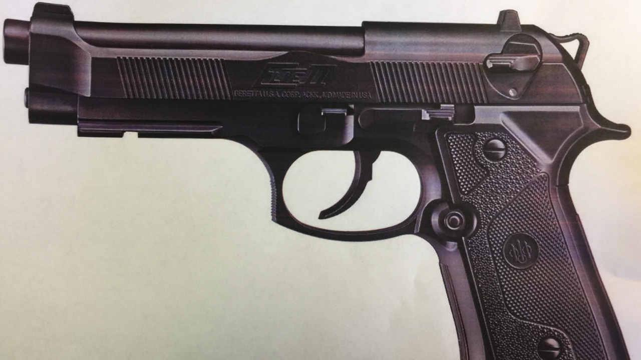 A BB gun recovered by CHP officers after a shooting on I-580 in San Rafael is seen in this undated image.