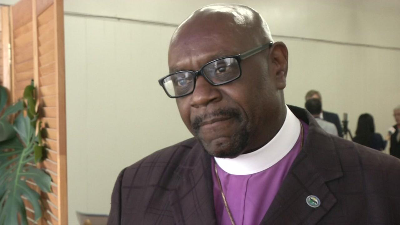 Bishop Ron Allen of the International Faith Based Coalition on June 8, 2018, in San Francisco.