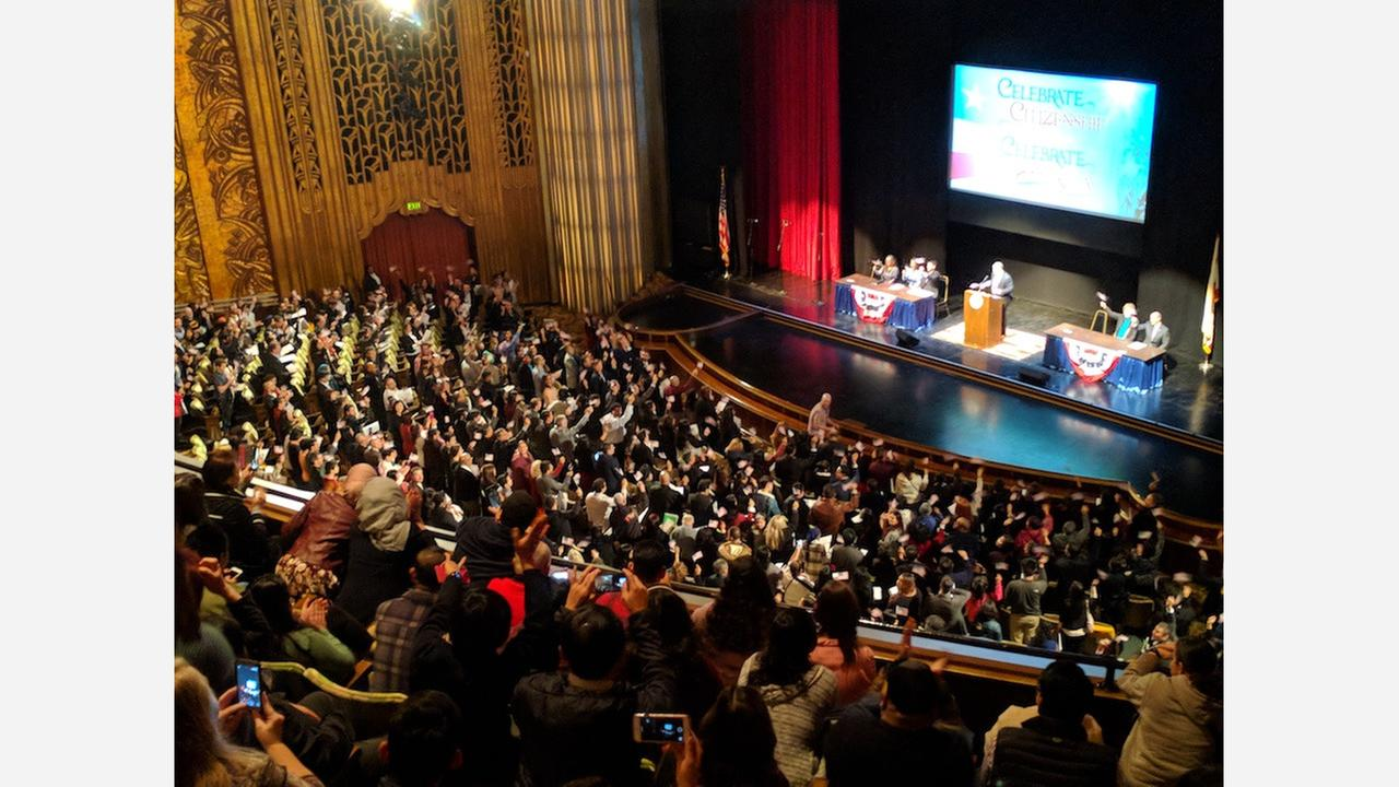 After Trump's immigration remarks, Oakland naturalization ceremony goes viral